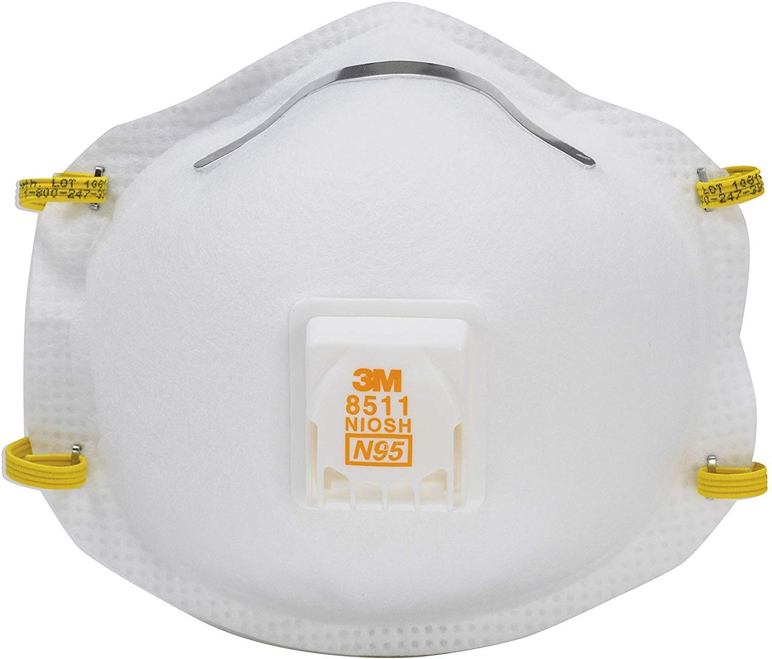 3M 8511 Respirator, N95, Cool Flow Valve (10 Pack)