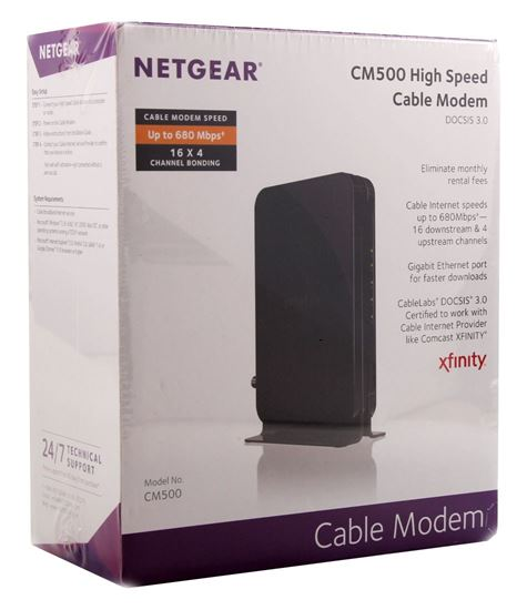 NETGEAR DOCSIS 3.0 High Speed Cable Modem CM500-100NAS