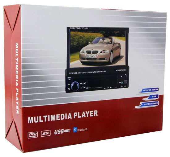 "In-Dash 7"" Motorized Touchscreen Media Player"