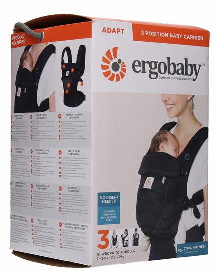 Ergobaby Adapt Cool Air Mesh Breathable Baby Carrier,Black