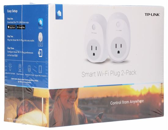 2-PACK WIFI SMART PLUG, 2.4GHZ, 802.11B/G/N, WORKS WITH TP-LINKS HOME AUTOMATION