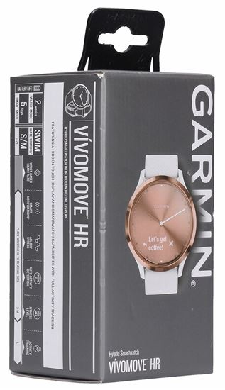 Garmin vívomove HR Sport Hybrid Smartwatch - Rose Gold, S/M