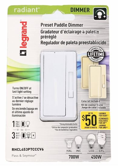 Legrand - PASS & SEYMOUR RHCL453PTCCCV6 3-Way Single Pole 120V Dimmer