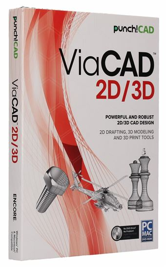 Encore PUNCH! ViaCAD 2D/3D v10, Traditional Disc