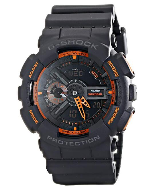 Casio Men's GA-110TS-1A4 G-Shock Analog-Digital Watch